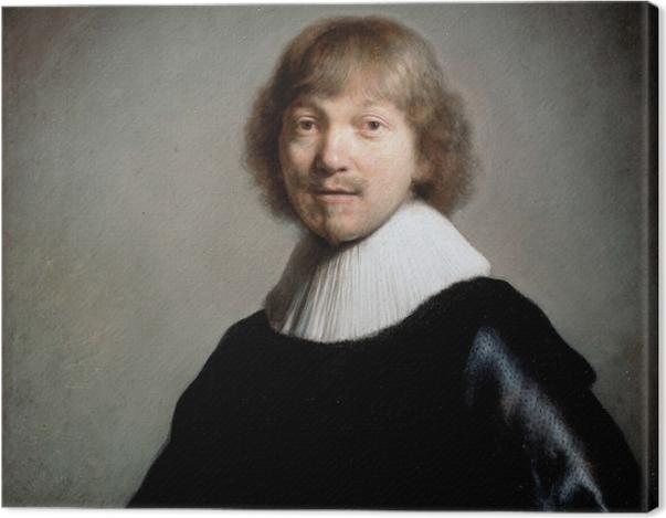 Leinwandbild Rembrandt - Porträt von Jacques de Gheyn III - Reproduktion