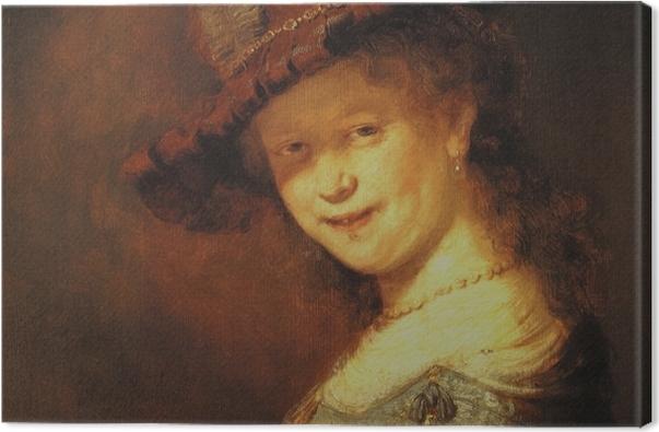 Leinwandbild Rembrandt - Saskia van Uylenburgh als Mädchen - Reproduktion