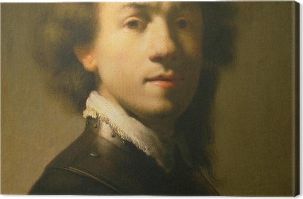 Leinwandbild Rembrandt - Selbstbildnis mit Halsberge - Reproduktion
