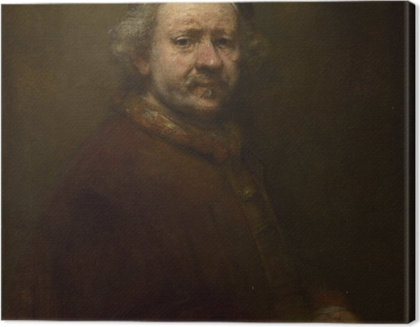 Leinwandbild Rembrandt - Selbstporträt im Alter von 63 Jahren - Reproduktion