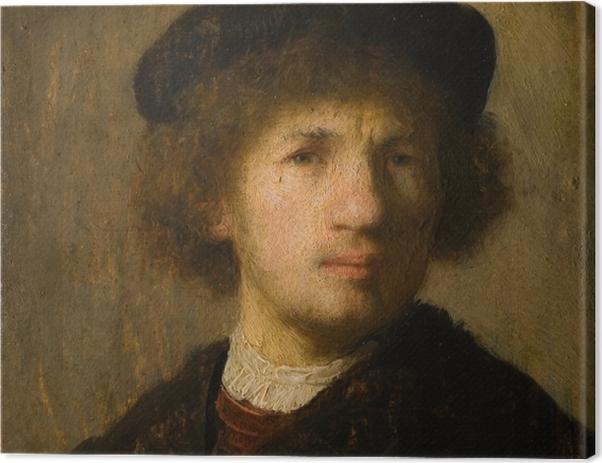 Leinwandbild Rembrandt - Selbstporträt - Reproduktion