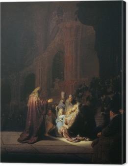 Leinwandbild Rembrandt - Simeon im Tempel