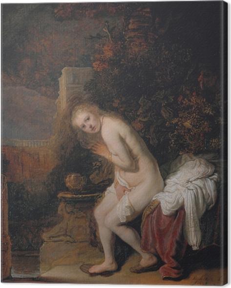 Leinwandbild Rembrandt - Susanna und die beiden Alten - Reproduktion
