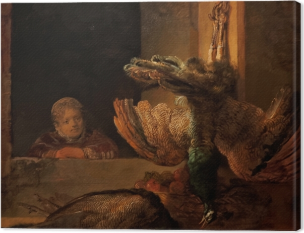 Leinwandbild Rembrandt - Tote Pfauen - Reproduktion