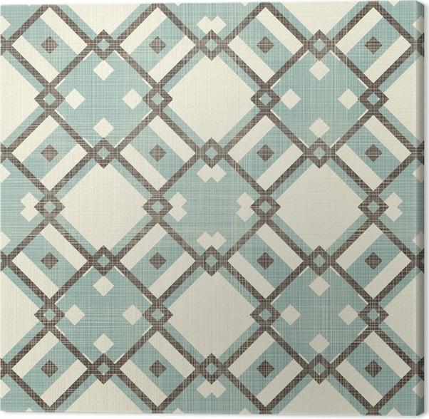 Leinwandbild retro geometrische nahtlose muster in blau und grau pixers wir leben um zu - Leinwandbild grau ...