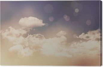 Leinwandbild Retro Wolken und Himmel im Hintergrund