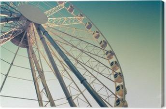 Leinwandbild Riesenrad gegen