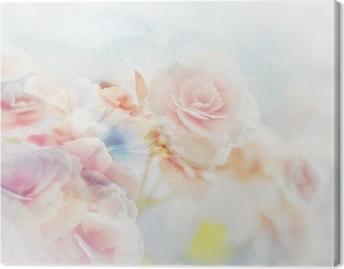 Leinwandbild Romantische Rosen im Vintage-Stil