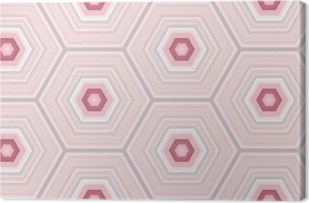 Leinwandbild rosa hexagon fliesen pixers wir leben um zu ver ndern - Hexagon fliesen ...