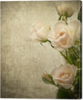 Leinwandbild Rose Textur