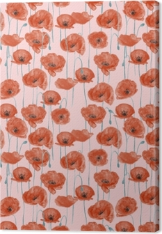 Leinwandbild Rote Mohnblumen - Nina Ho