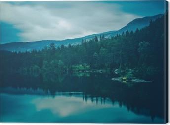 Leinwandbild Ruhe See-Landschaft
