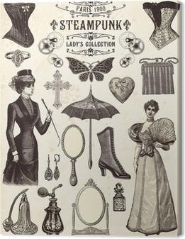 Leinwandbild Sammlung Steampunk Dame