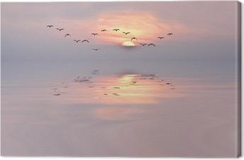 Leinwandbild Sanfte Farben der Morgendämmerung