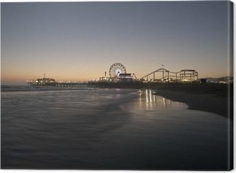 Leinwandbild Santa Monica Beach Night