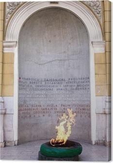 Leinwandbild Sarajevo, Bosnien und Herzegowina - Forever Feuer Denkmal