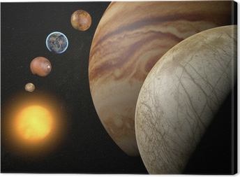 Leinwandbild Satelliten-Europa, dem Jupitermond, Raum Sonnensystem