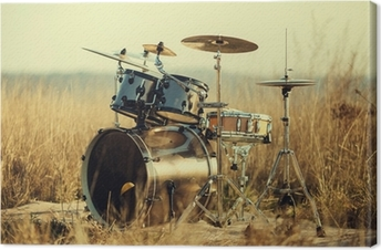 Leinwandbild Schlagzeug an der frischen Luft