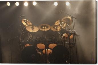 Leinwandbild Schlagzeug auf der Bühne