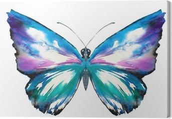 Leinwandbild Schmetterling Aquarell gemalt.