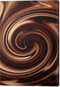 Leinwandbild Schokolade Hintergrund