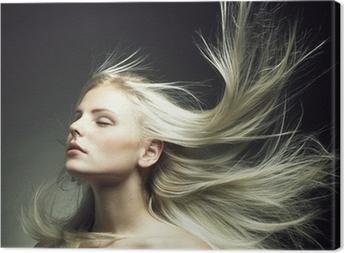 Leinwandbild Schöne Frau mit herrlichem Haar