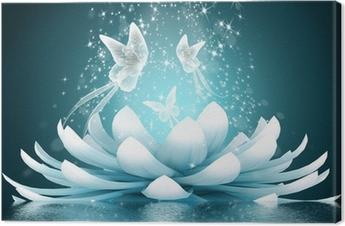 Leinwandbild Schöne Lotusblüte