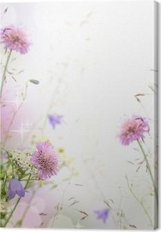 Leinwandbild Schöne Pastell floralen Grenze - unscharfen Hintergrund