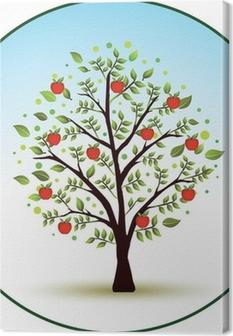 Leinwandbild Schöne Vektor Apfelbaum