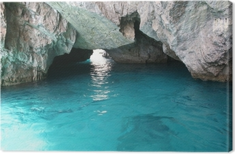 Leinwandbild Schönen Kristall türkisfarbenem Wasser