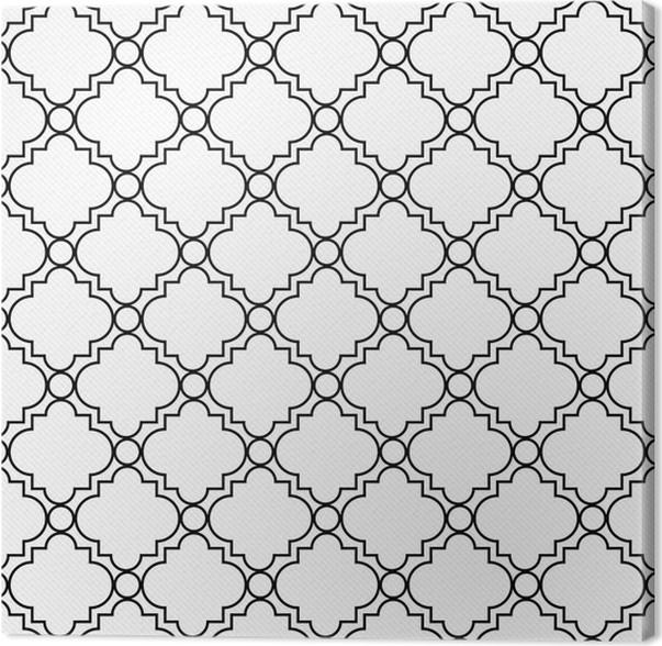 Leinwandbild Schwarz-Weiß Dekorative Design Strukturierte Gewebe ...