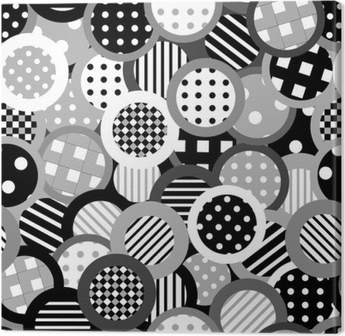 Leinwandbild Schwarz-Weiß-Hintergrund mit Kreisen