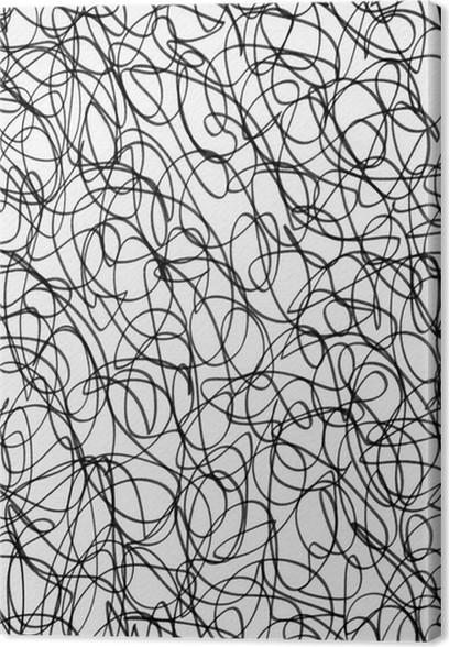 leinwandbild schwarze tinte scribble abstraktes muster auf wei em papier pixers wir leben. Black Bedroom Furniture Sets. Home Design Ideas