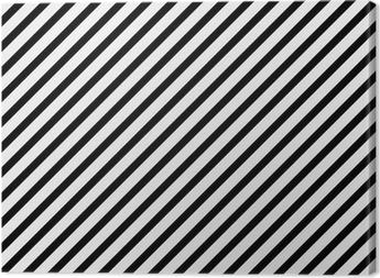 Leinwandbild Schwarzweiss-diagonales gestreiftes Muster wiederholen Hintergrund