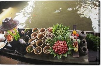 Leinwandbild Schwimmender Markt, Thailand