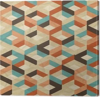 Leinwandbild Seamless retro geometrischen Muster