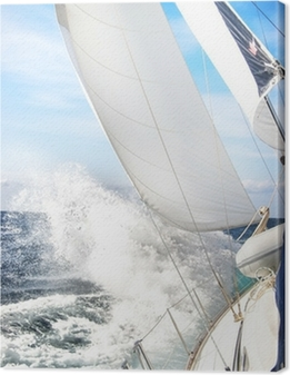 Leinwandbild Segelboot im Sturm