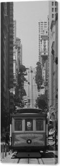 Leinwandbild Seilbahn in San Francisco