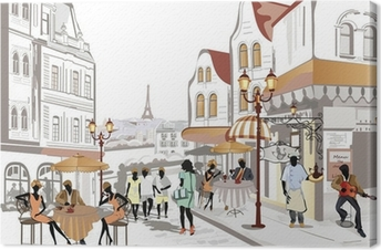 Leinwandbild Series of Blick auf die Straße in der alten Stadt