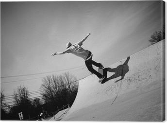 Leinwandbild Skateboard-Rampe