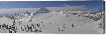 Leinwandbild Skigebiet im Zillertal