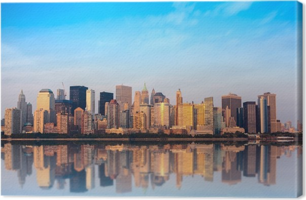 New York Leinwandbild ~ Leinwandbild skyline new york u2022 pixers® wir leben um zu verändern
