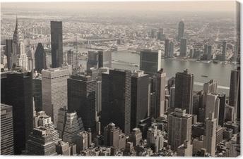 Leinwandbild Skyline von Manhattan - Sepia Bild