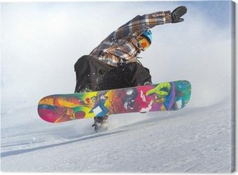 Leinwandbild Snowboard Evolution