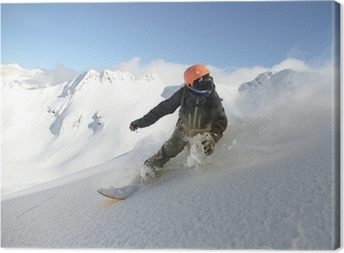 Leinwandbild Snowboard Freerider