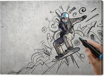 Leinwandbild Snowboarden