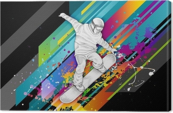Leinwandbild Snowboarder