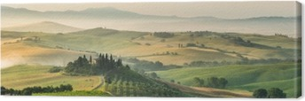 Leinwandbild Sommer Landschaft der Toskana, Italien