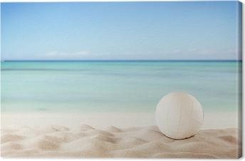 Leinwandbild Sommer Strand mit Volleyballkugel