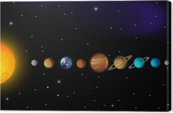 Leinwandbild Sonnensystem